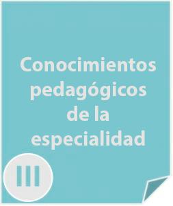 3 Conocimientos pedagógicos